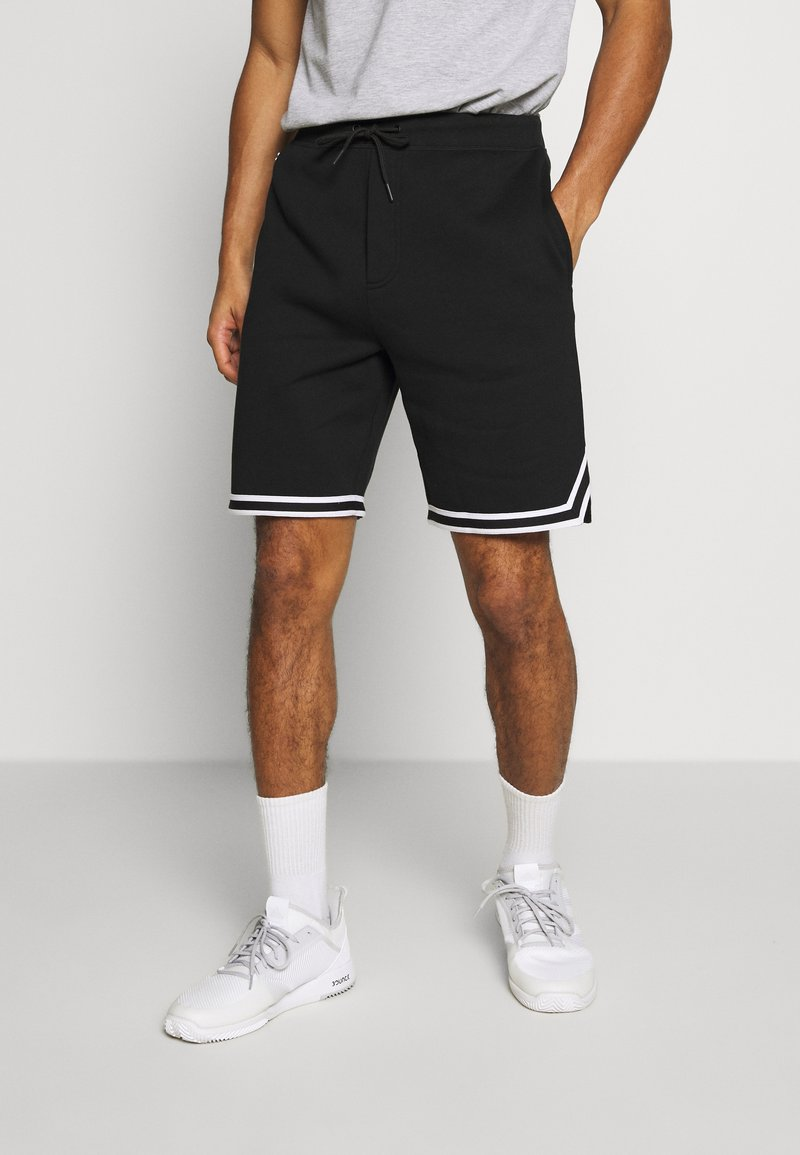Lacoste Sport - Sports shorts - black/white