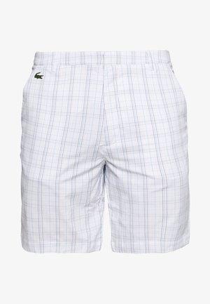 CHECKERD SHORT - kurze Sporthose - white/navy blue