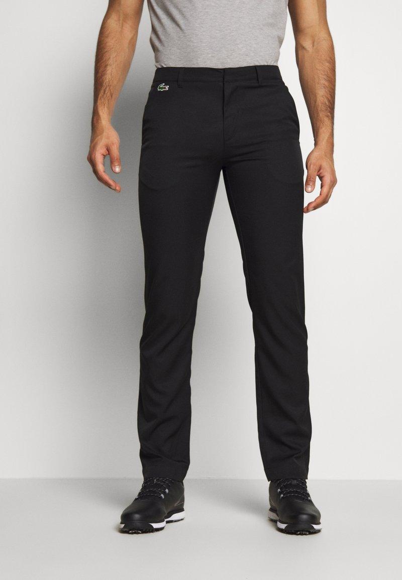 Lacoste Sport - CHINO PANT WATERPROOF - Kalhoty - black