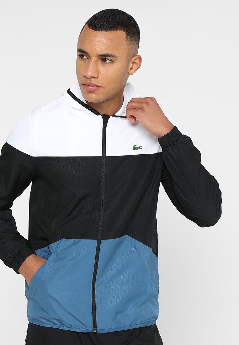 Lacoste Sport - TRACKJACKET - Training jacket - white/black neottia