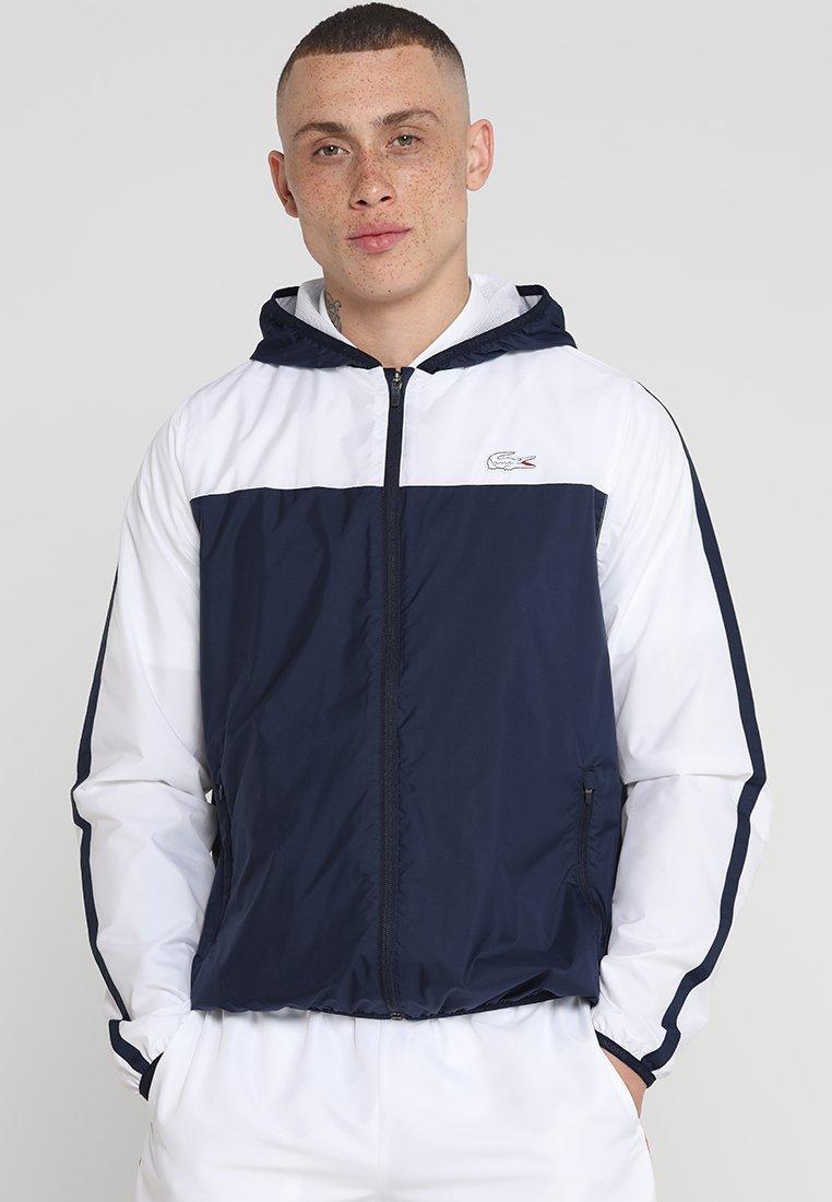 Lacoste Sport - ROLAND GARROS - Training jacket - navy blue/white