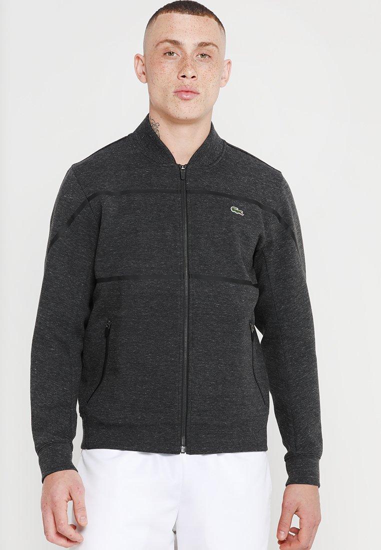 Lacoste Sport - TRACKJACKET - Zip-up hoodie - foliosa chine/black