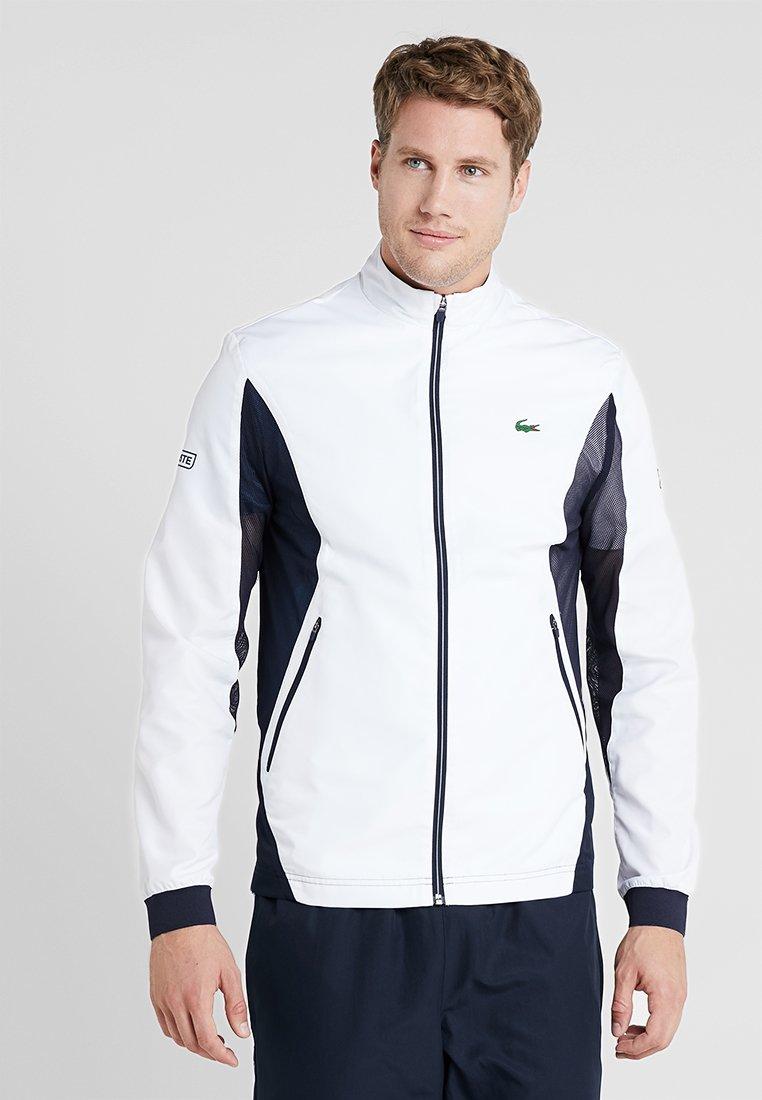 Lacoste Sport - TENNIS JACKET DJOKOVIC - Träningsjacka - white/navy blue