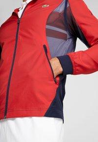 Lacoste Sport - TENNIS JACKET DJOKOVIC - Sportovní bunda - tokyo red/navy blue - 5