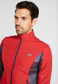 Lacoste Sport - TENNIS JACKET DJOKOVIC - Sportovní bunda - tokyo red/navy blue - 3