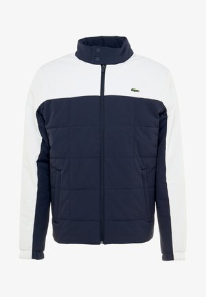 TENNIS JACKET - Outdoorová bunda - navy blue/white