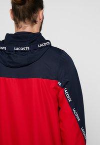 Lacoste Sport - TENNIS JACKET - Veste de survêtement - navy blue/red/navy blue/white - 4
