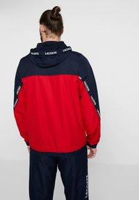 Lacoste Sport - TENNIS JACKET - Veste de survêtement - navy blue/red/navy blue/white - 2