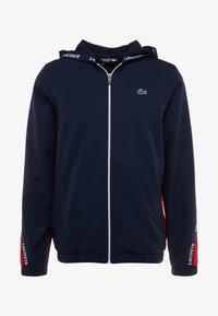 Lacoste Sport - TENNIS JACKET - Veste de survêtement - navy blue/red/navy blue/white - 6