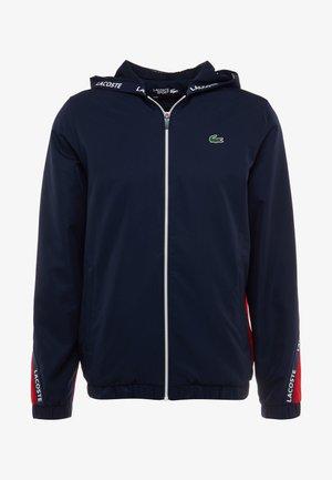 TENNIS JACKET - Träningsjacka - navy blue/red/navy blue/white