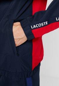 Lacoste Sport - TENNIS JACKET - Veste de survêtement - navy blue/red/navy blue/white - 5