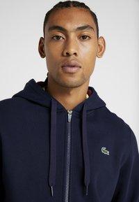 Lacoste Sport - DJOKOVIC - veste en sweat zippée - navy blue/medoc - 4