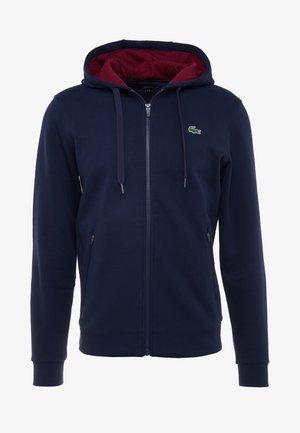 DJOKOVIC - veste en sweat zippée - navy blue/medoc