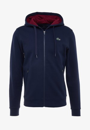 DJOKOVIC - Zip-up hoodie - navy blue/medoc