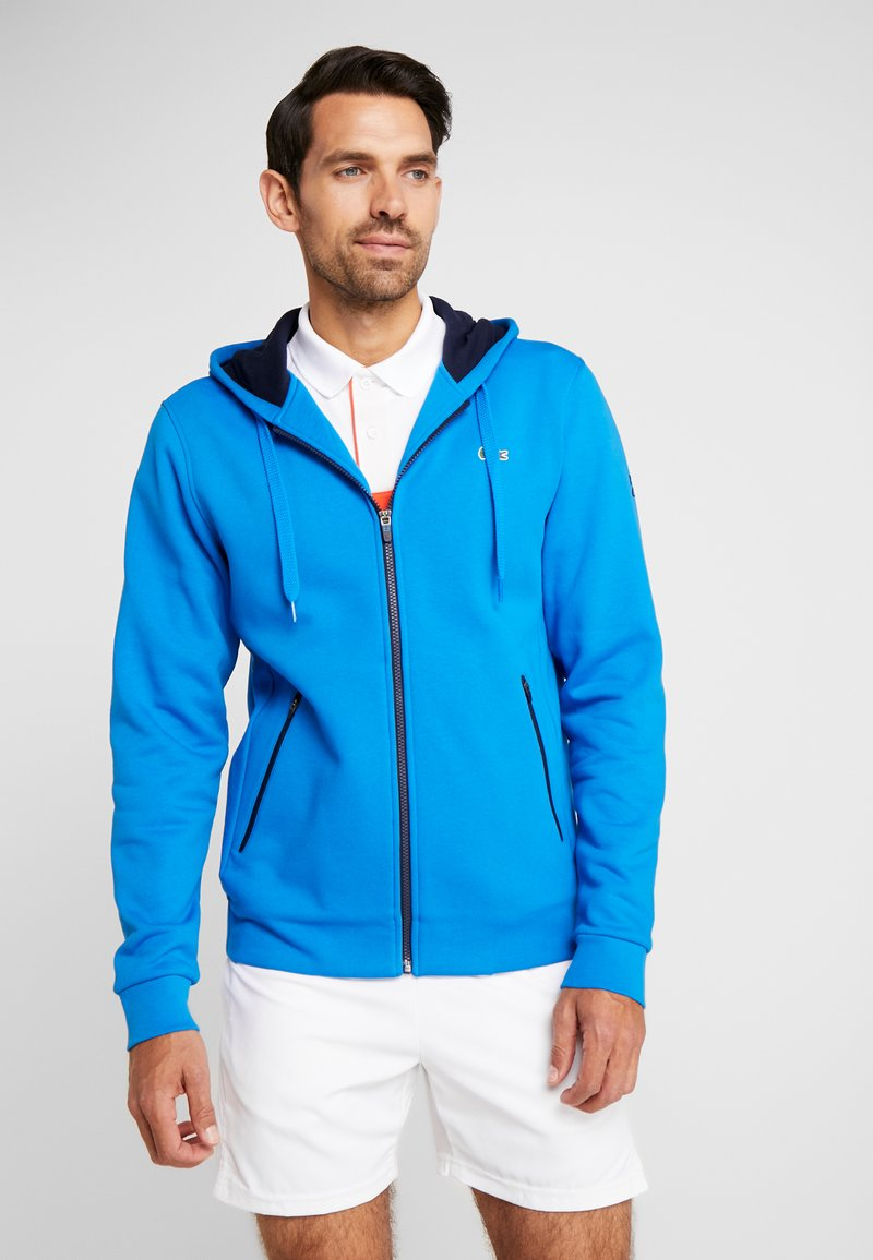 Lacoste Sport - DJOKOVIC - Zip-up hoodie - nattier blue/navy blue