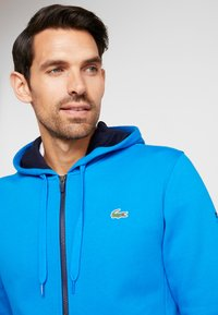 Lacoste Sport - DJOKOVIC - Zip-up hoodie - nattier blue/navy blue - 3