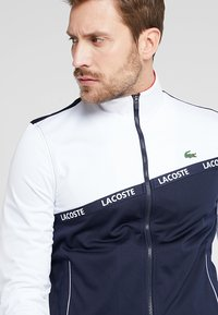 Lacoste Sport - TENNIS JACKET - Trainingsjacke - white/navy blue/red - 4