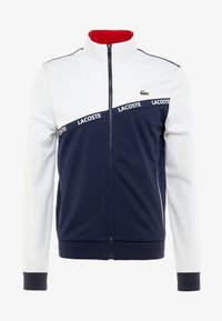 Lacoste Sport - TENNIS JACKET - Trainingsjacke - white/navy blue/red - 3