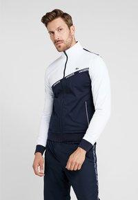 Lacoste Sport - TENNIS JACKET - Trainingsjacke - white/navy blue/red - 0