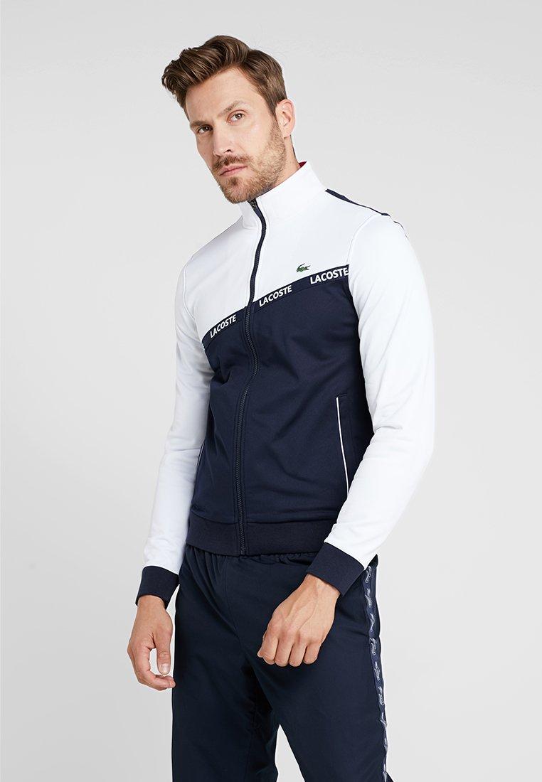 Lacoste Sport - TENNIS JACKET - Träningsjacka - white/navy blue/red