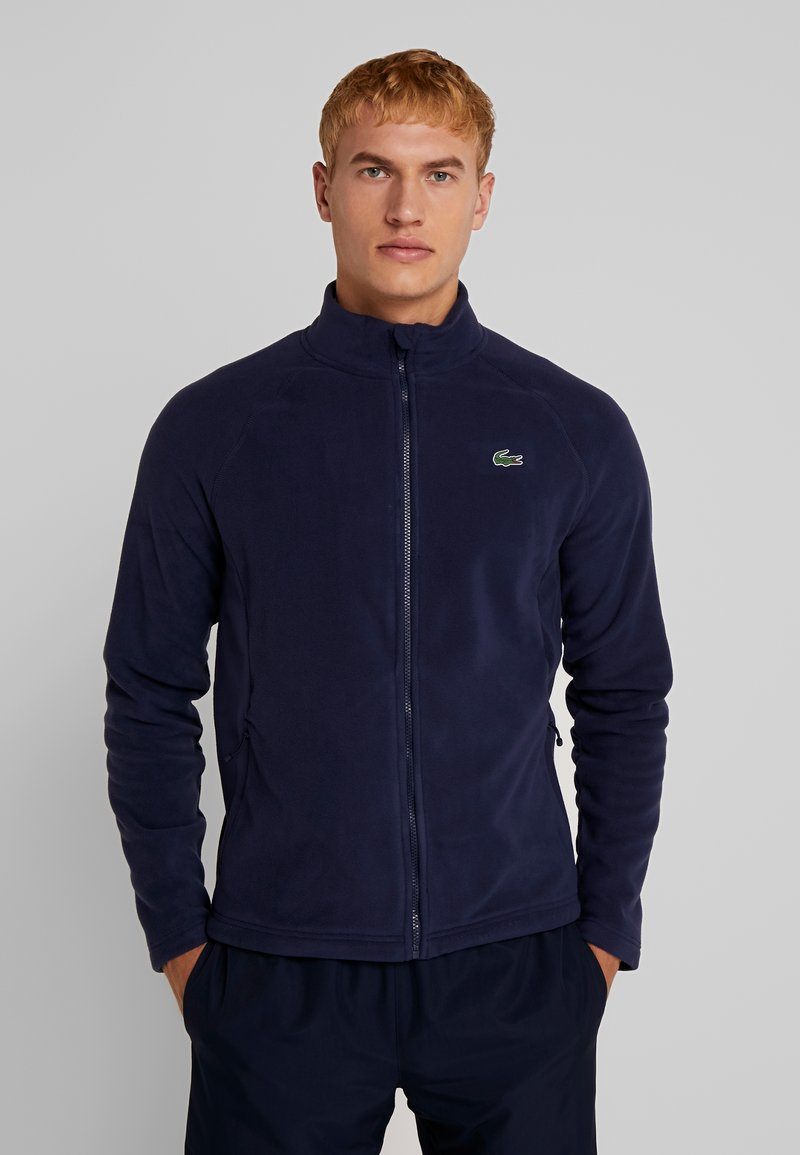 Lacoste Sport - TENNIS JACKET DJOKOVIC - Giacca in pile - navy blue