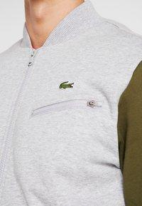 Lacoste Sport - JACKET - Zip-up hoodie - silver chine/bush - 5