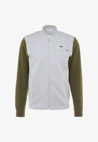 Lacoste Sport - JACKET - Zip-up hoodie - silver chine/bush - 4