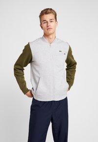 Lacoste Sport - JACKET - Zip-up hoodie - silver chine/bush - 0