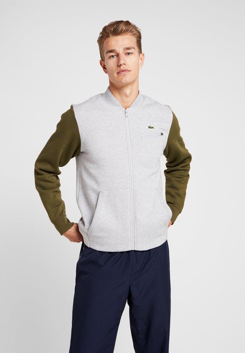 Lacoste Sport - JACKET - Zip-up hoodie - silver chine/bush