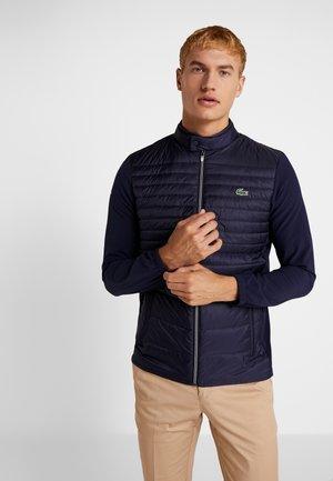 Down jacket - navy blue/white