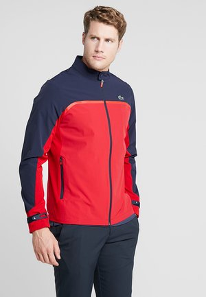 Softshellová bunda - tokyo red/navy blue/flash