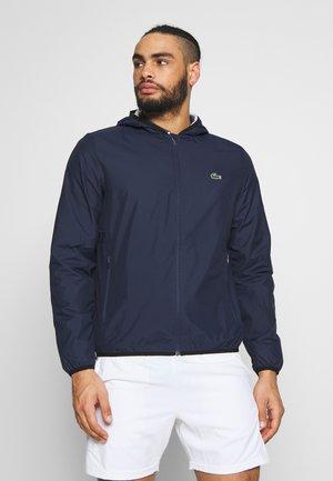 TENNIS JACKET - Impermeable - navy blue/white