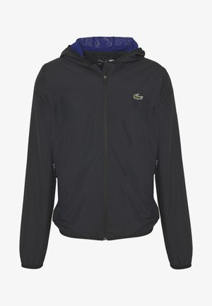 TENNIS JACKET - Impermeable - black/cosmic