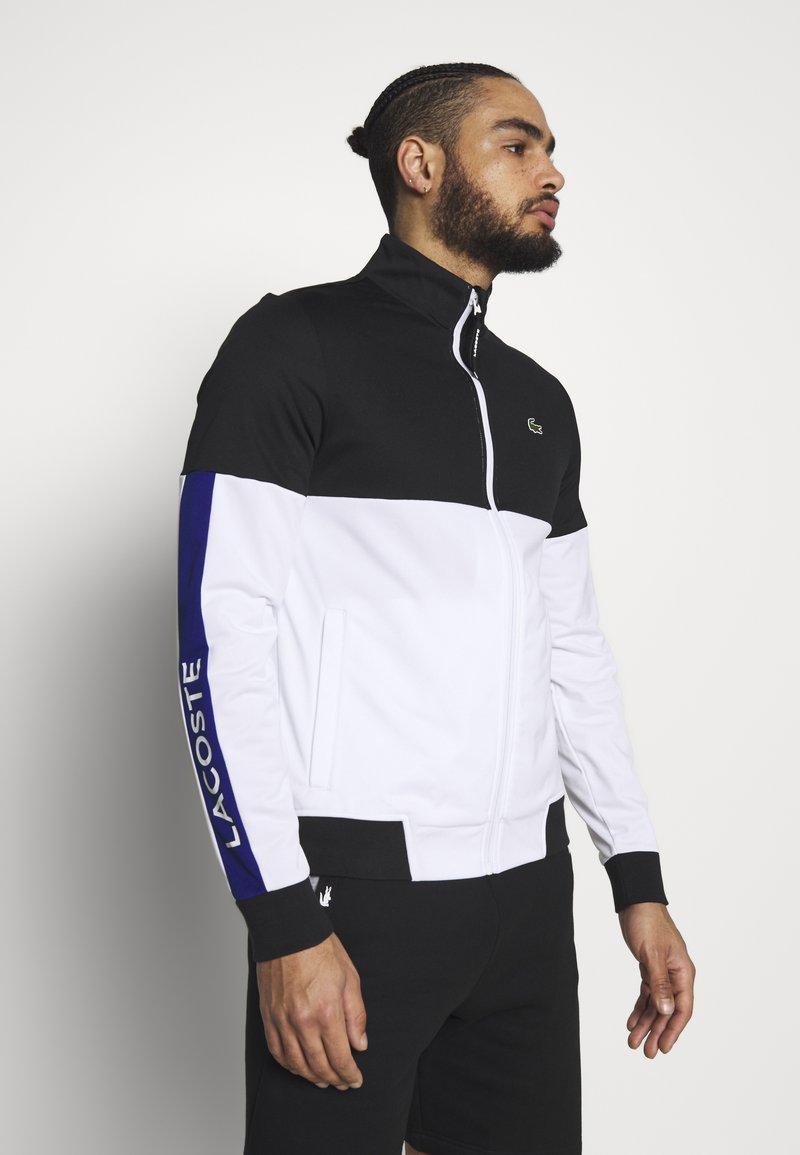 Lacoste Sport - TENNIS JACKET - Training jacket - black/white