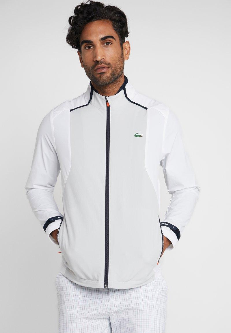 Lacoste Sport - JACKET - Training jacket - white/calluna/navy blue/gladiolus