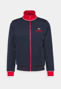 BOMBER JACKET - Sportovní bunda - navy blue/red/white