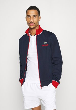 BOMBER JACKET - Training jacket - navy blue/red/white