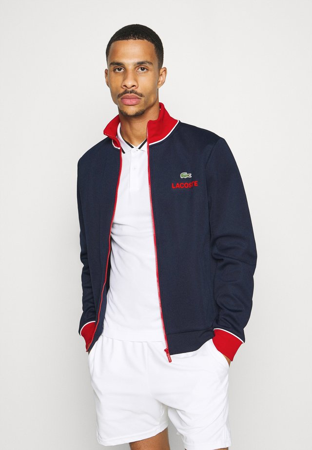 BOMBER JACKET - Veste de survêtement - navy blue/red/white
