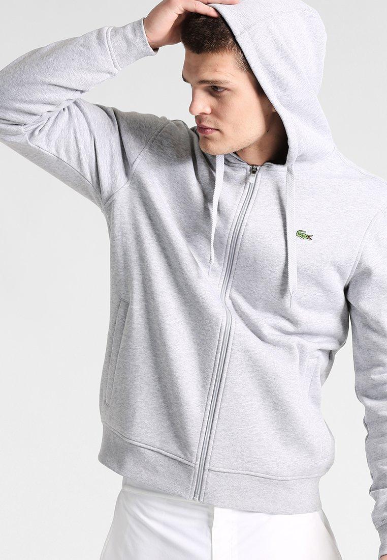 Lacoste Sport - HERREN - Zip-up hoodie - argent chine/marine