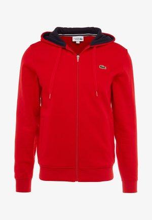 Zip-up hoodie - red/navy blue