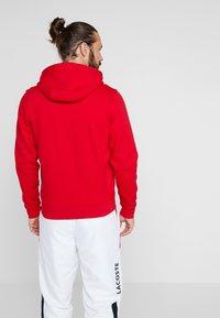 Lacoste Sport - HERREN SWEATJACKE-SH7609 - Sweatjacke - red/navy blue - 2