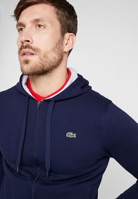 Lacoste Sport - HERREN SWEATJACKE-SH7609 - Zip-up hoodie - navy blue/silver chine