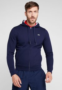 Lacoste Sport - HERREN SWEATJACKE-SH7609 - Zip-up hoodie - navy blue/silver chine - 0