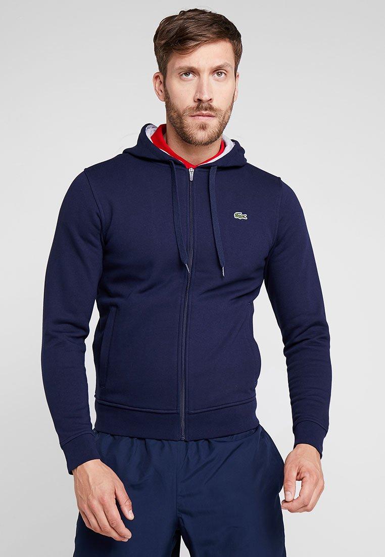 Lacoste Sport - HERREN - Zip-up hoodie - navy blue/silver chine