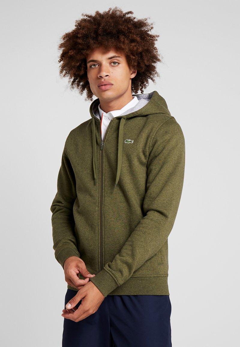 Lacoste Sport - HERREN - Zip-up hoodie - brome chine/silver chine