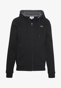 Lacoste Sport - Huvtröja med dragkedja - black/pitch chine - 4