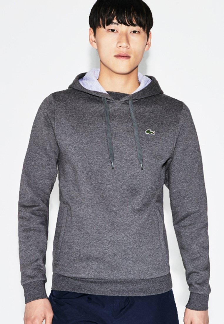 Lacoste Sport - HOODY - Hoodie - bitume/argent chine