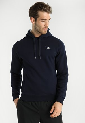 HOODY - Jersey con capucha - marine/argent chine