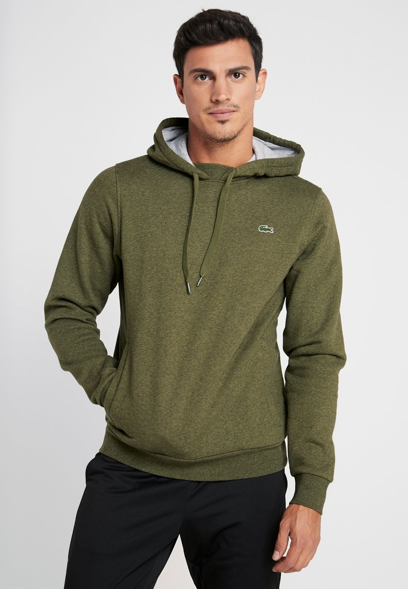 Lacoste Sport - HOODY - Luvtröja - brome chine/silver chine