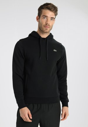 HOODY - Mikina s kapucí - noir/argent chine
